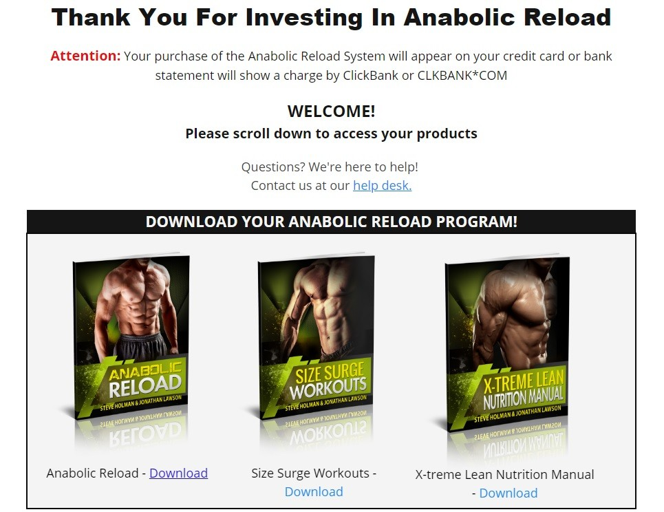Steve Holman's Anabolic Reload Download Page