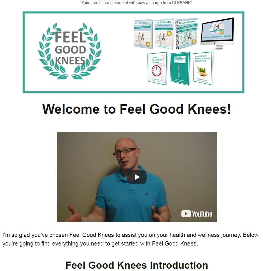 Feel Good Knees for Fast Pain Relief Download Page