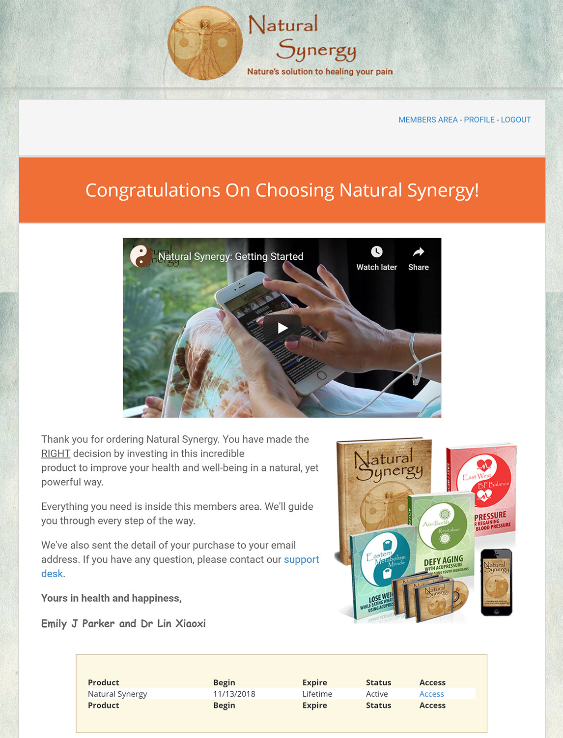 Emily J Park's Natural Synergy Download Page