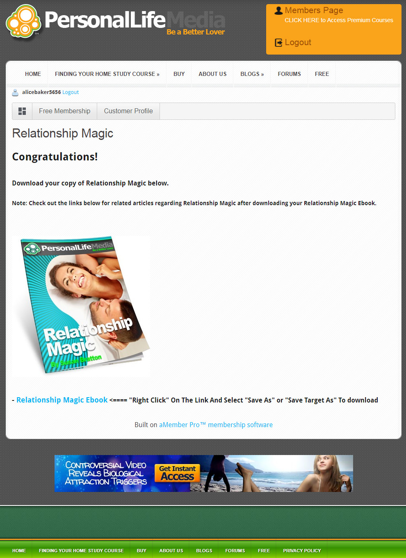 Susan Bratton's Relationship Magic Download Page