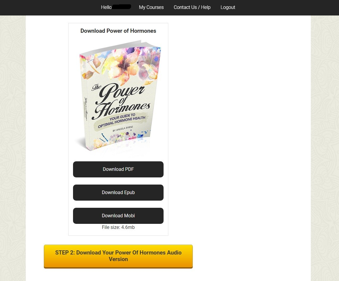 Angela Bryne's The Power of Hormones Download Page